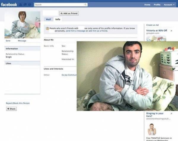Homem procura homônimos no Facebook e