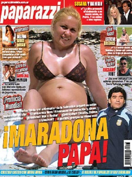 Maradona confirma que será pai, mas deixa claro que relacionamento está conturbado