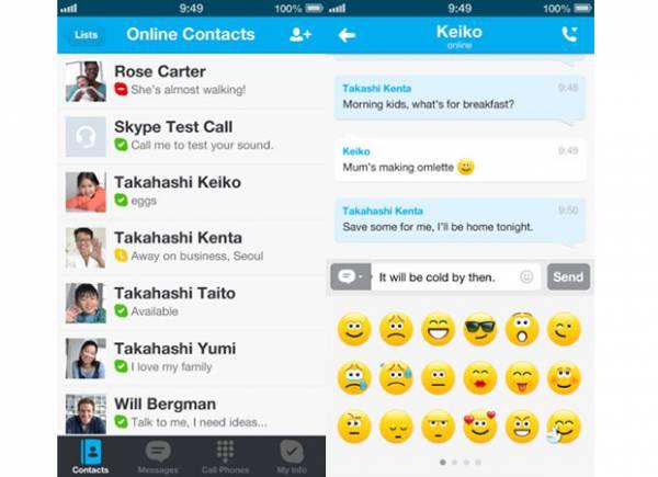 Skype para iPhone e iPad recebe integração ao MSN e emoticons animados