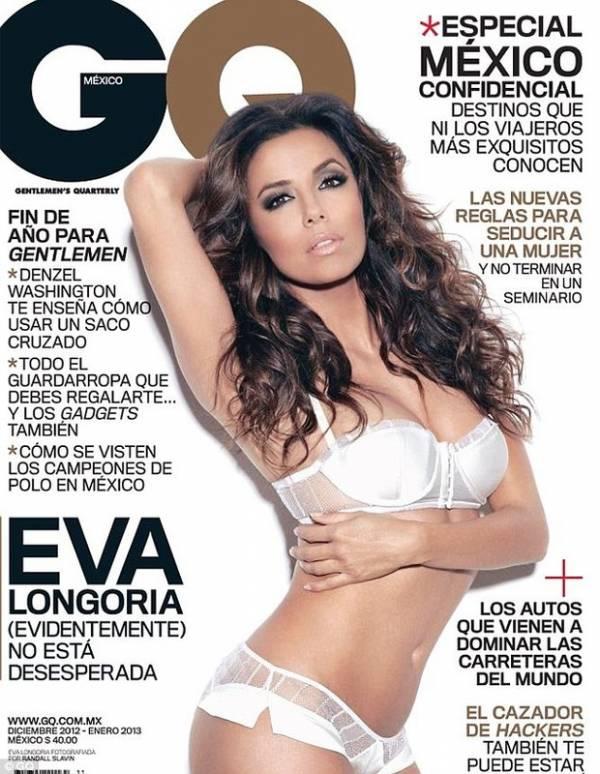Eva Longoria exibe corpão de lingerie em capa de revista