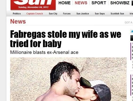 Fabregas acusado de roubar mulhere de milionario libanês