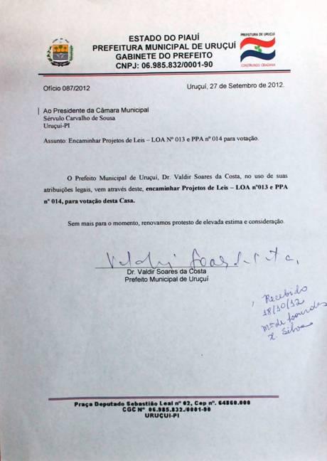 Câmara de Uruçuí afasta o prefeito por 8 votos a 1