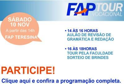 Faculdade Piauiense (FAP) realiza Tour Vocacional nesse sábado