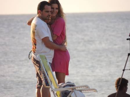 Luciano comemora aniversário de casamento em Fernando de Noronha