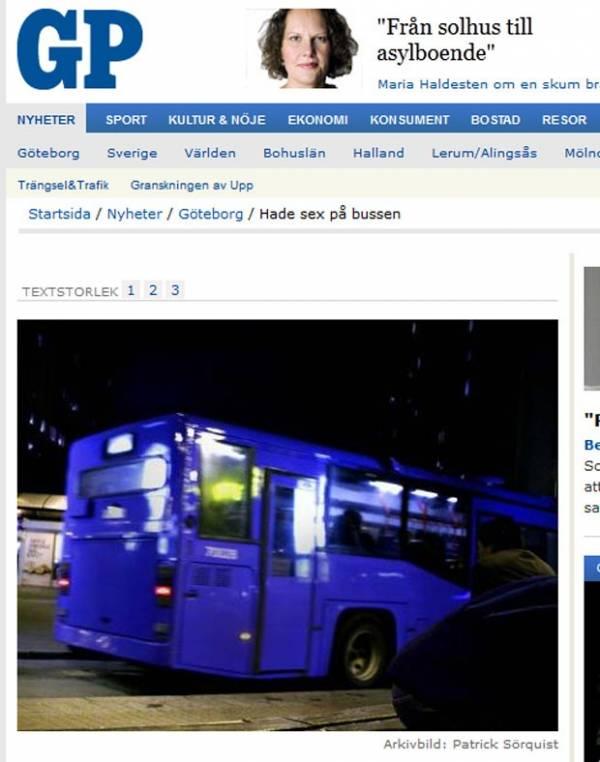 Casal é flagrado fazendo sexo em ônibus na Suécia