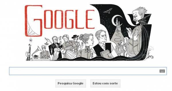 Doodle do Google homenageia aniversário do autor de Drácula