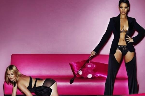 Rihanna posa para revista ao lado de Kate Moss em ensaio supersexy
