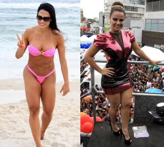 Nicole Bahls critica forma física de Gracyanne Barbosa e elogia Viviane Araújo