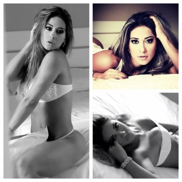Mayra Cardi posa de lingerie e manda recado:
