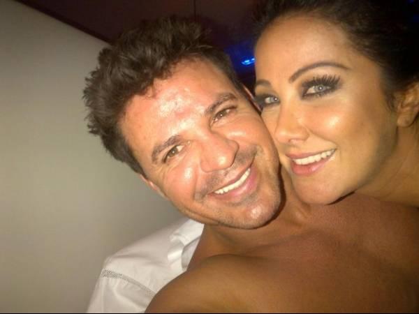 Helen Ganzarolli curte noite agarradinha com Eduardo Costa