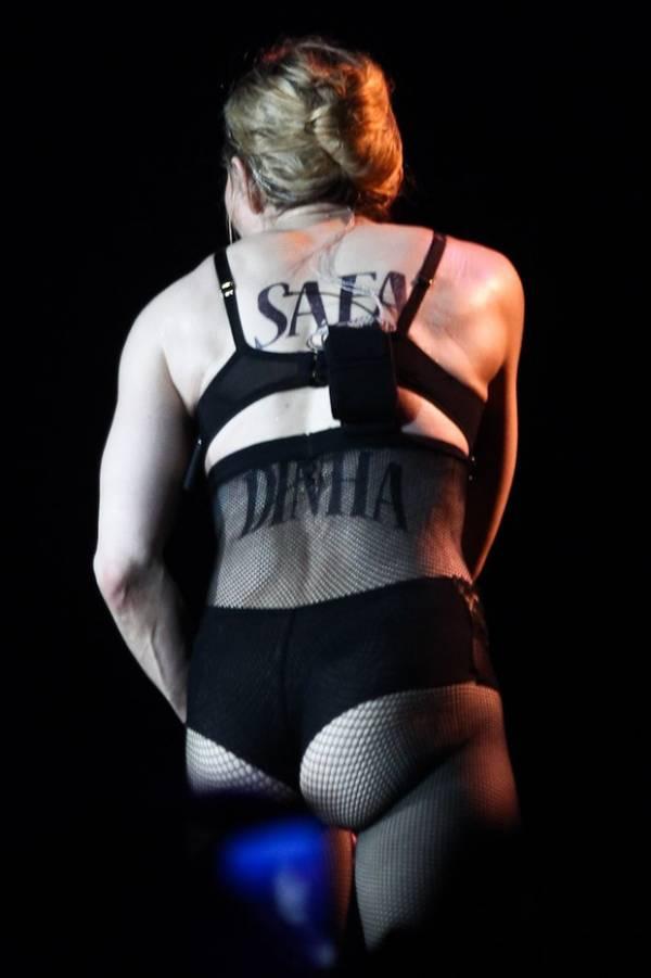 Madonna e Brahim Zaibat dão aquele beijo no palco