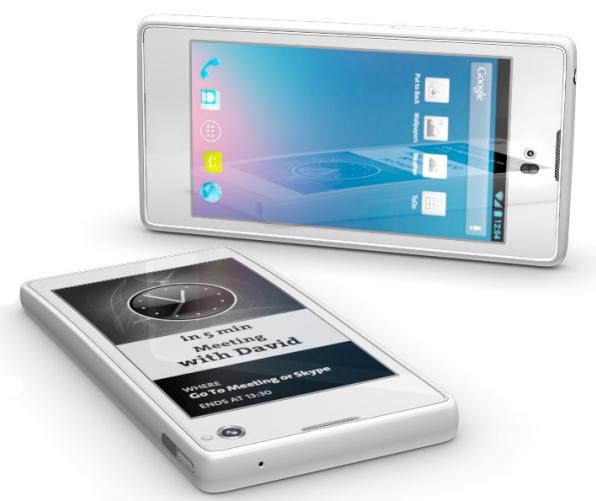 Fabricante russa lança smartphone com duas telas, de LCD e e-ink