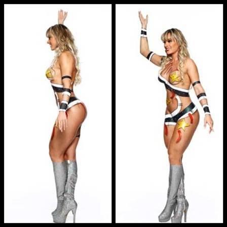 Juju Salimeni posta foto de pintura corporal inspirada no carnaval