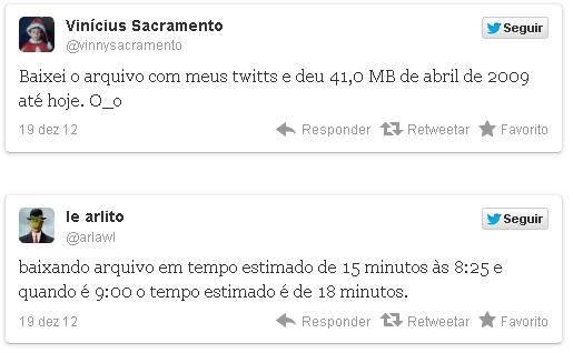 Twitter abre download de posts antigos; brasileiros já usam recurso