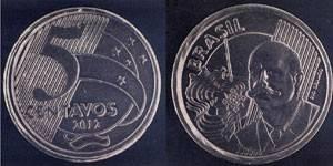 Bancos terão de trocar moeda de R$ 0,50 com inscrição de cinco centavos