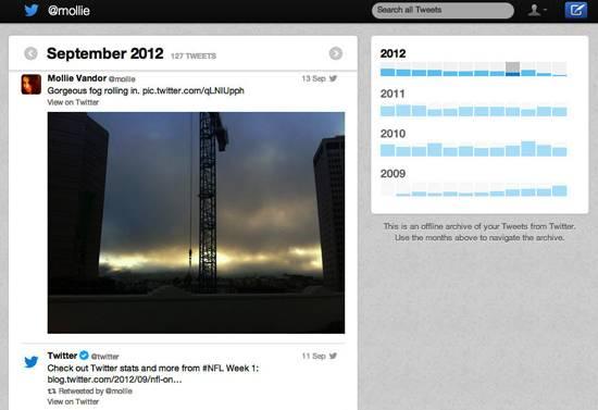 Nova ferramenta do Twitter permite ao usuário baixar todos os seus tuítes