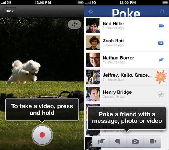 Facebook lança Poke, aplicativo para cutucar e enviar mensagens temporárias pelo iPhone