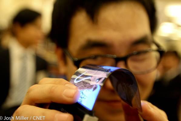 Samsung promete demonstração de tela flexivel de 5.5′ na CES 2013