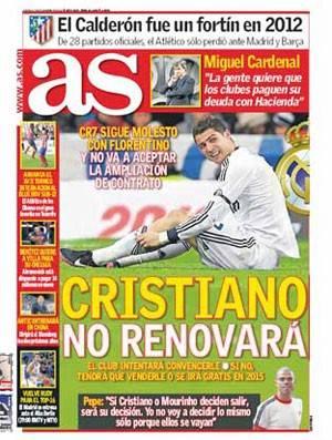 CR7 não vai aceitar proposta de renovação no Real, diz jornal espanhol