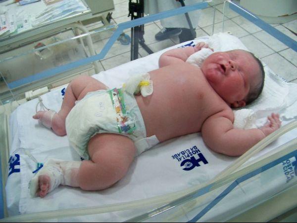 Bebê de 6,2 kg nasce em hospital de Passo Fundo, RS