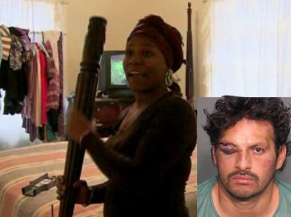 Ladrão tenta roubar casa, mas leva surra da dona e acaba preso