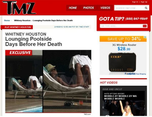 Whitney Houston teria pressentido sua morte, poucos dias antes de ser encontrada em banheira