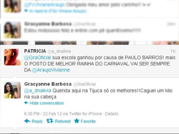 Fã elogia Vivi Araújo, Gracyanne Barbosa não gosta e diz: