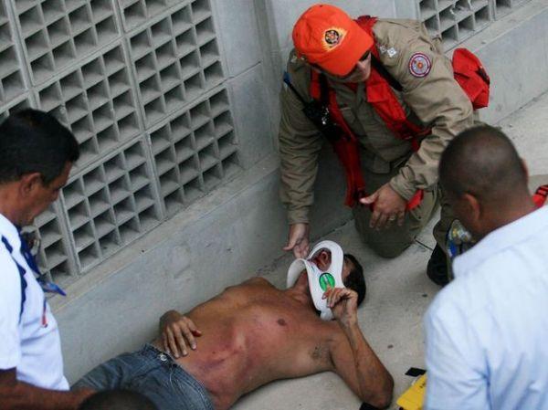 Torcedor cai em fosso do Engenhão durante final da Taça Guanabara