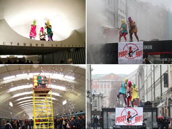 No rastro das ucranianas do Femen, banda russa faz protestos inusitados