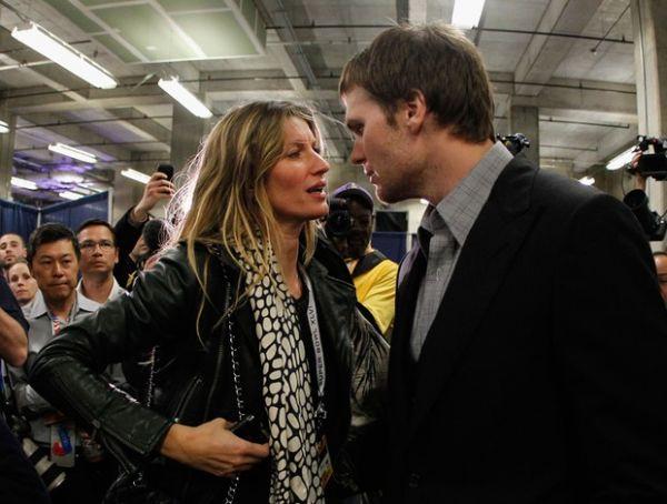 Após derrota no Super Bowl, Brady é consolado por Gisele Bundchen