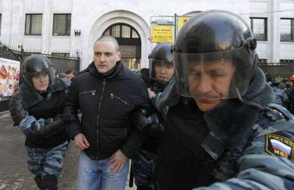 Líder opositor russo é detido em protesto contra Putin em Moscou