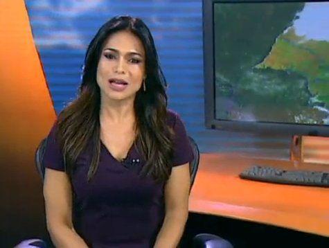 Rosana Jatobá, a moça do tempo, sai magoada da Globo