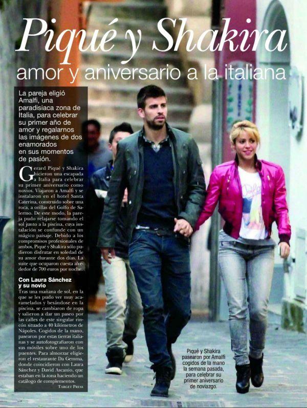 Piqué e Shakira afastam rumores de término com pequena