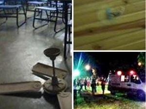 Ventilador cai em cabeça de aluna no campus da UFG