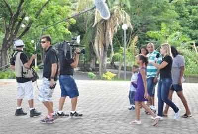 Programa do Gugu grava no Complexo Turístico Mirante Ponte Estaiada