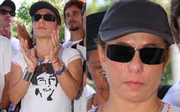 Cissa Guimarães se emociona durante homenagem ao filho Rafael