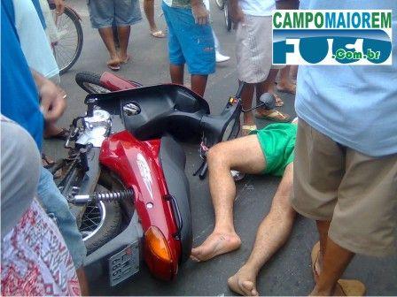 Motociclista atropela pedestre e os dois ficam feridos em C. Maior