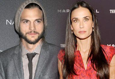 Demi Moore recebe visita de Ashton Kutcher, após sair da reab