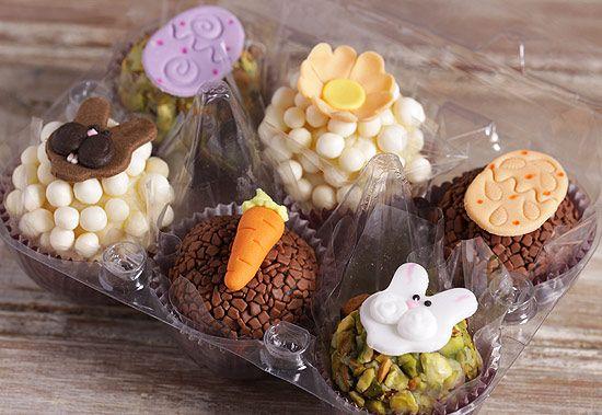 Lojas criam brigadeiros e cupcakes especiais para a Páscoa