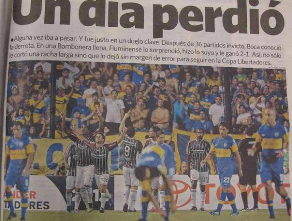 Jornais argentinos exaltam Fred, Deco e força do Fluminense