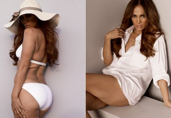Jennifer Lopez exibe gordurinhas extras