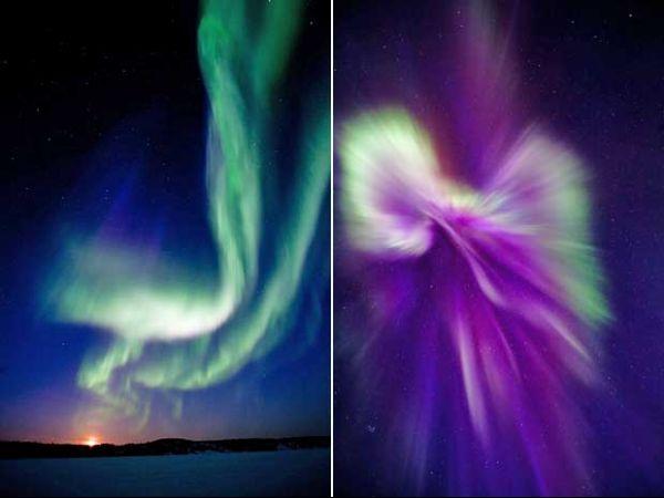 Tempestade solar que atingiu a Terra cria aurora boreal no Canadá