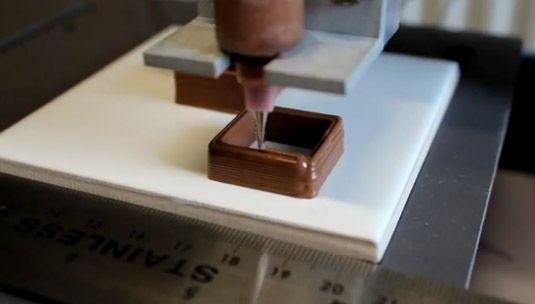Pesquisadores ingleses inventam impressora de chocolate em 3D