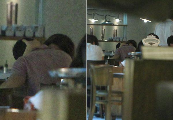 Claudia Raia troca beijos com o novo namorado em restaurante