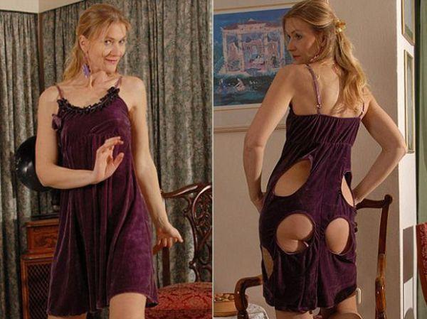 Estilista cria vestido que deixa bumbum à mostra