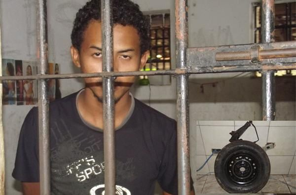 Policia prende homem acusado de arrombar carros na cidade de Piripiri