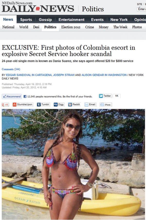 Jornal mostra fotos de prostituta que gerou escândalo nos EUA