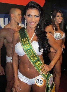 Mesmo sendo ex de Adriano,Luana fica só em 5°no Miss Fitness
