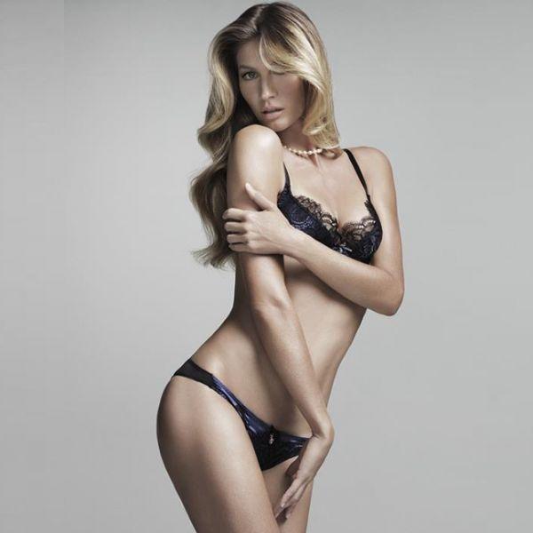 Gisele Bündchen dá prévia de nova coleção de lingerie