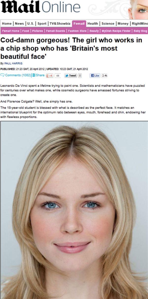 Jovem de 18 anos é eleita mulher com o rosto mais bonito da Inglaterra